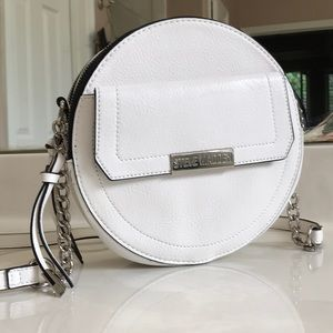 Steve Madden Round White Shoulder Purse Handbag